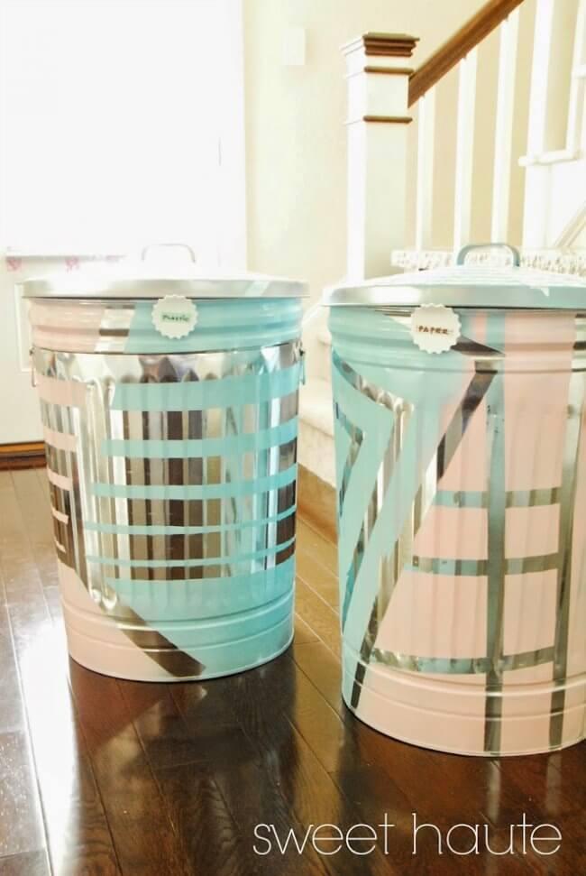 DIY Outdoor Organization: Recycle Bins