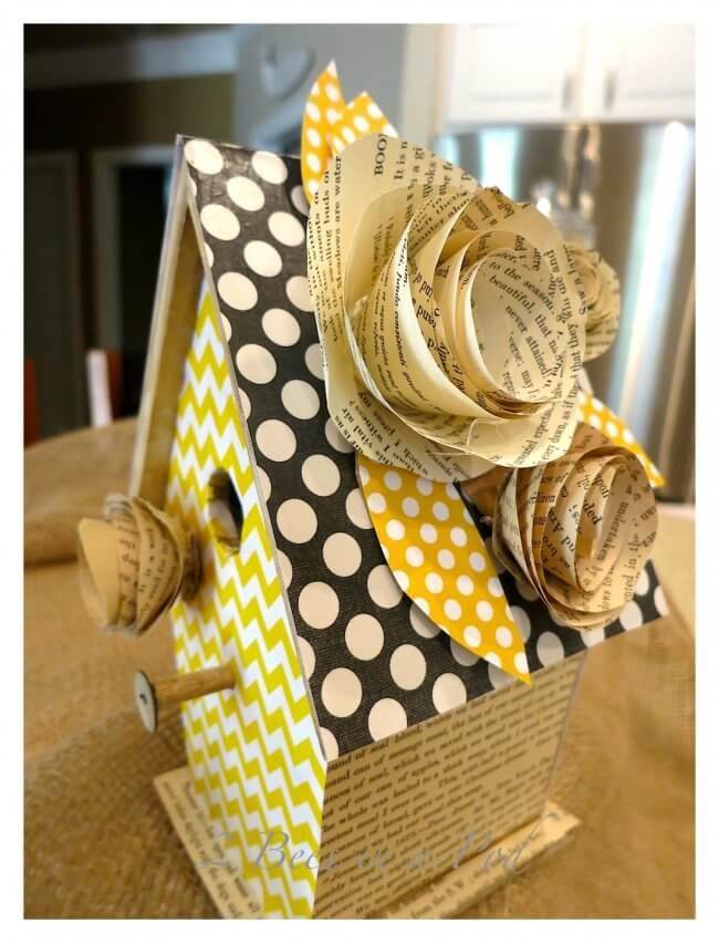 Decorative Birdhouse Using Scrapbook Paper