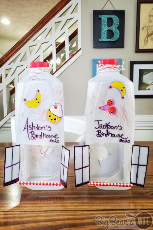 Diy Milk Jug Birdhouse