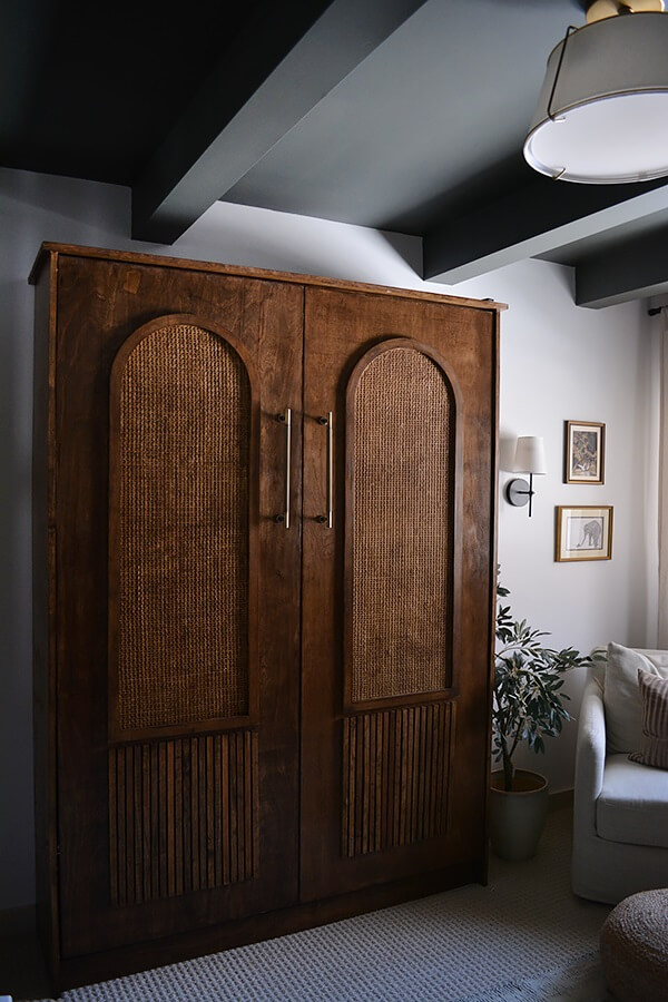 Diy Modern Murphy Bed With Cane And Arches