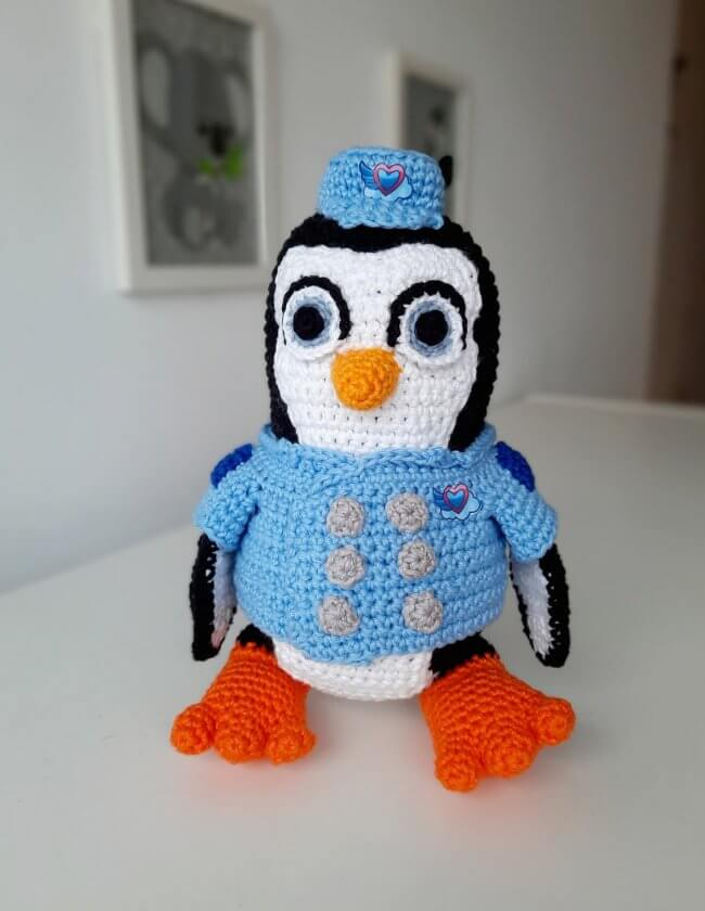 English PATTERN: Penguin Pip, T.O.T.S amigurumi