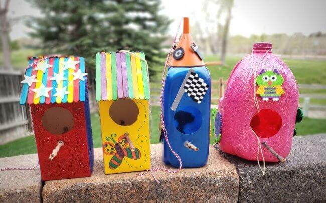 Homemade Birdhouses For Kids To Make