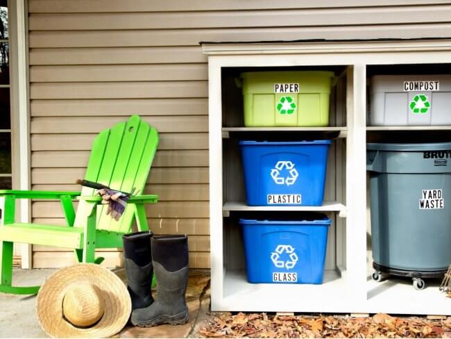 How to Build an Outdoor Recycling Center