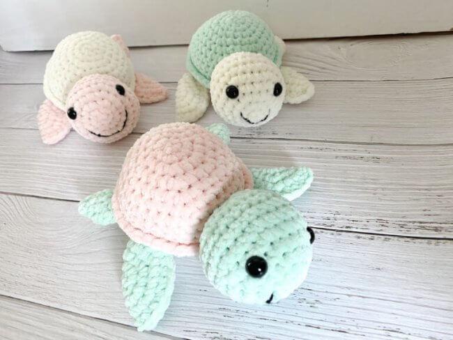 Plush Turtle Free Crochet Pattern