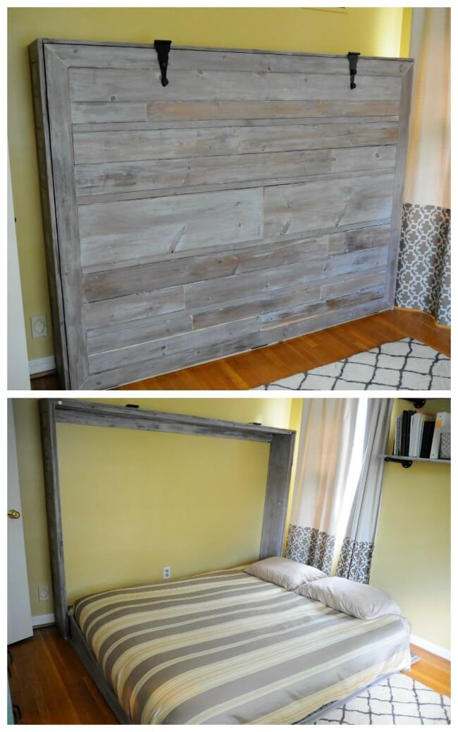 Rustic Queen Sized Wall Bed