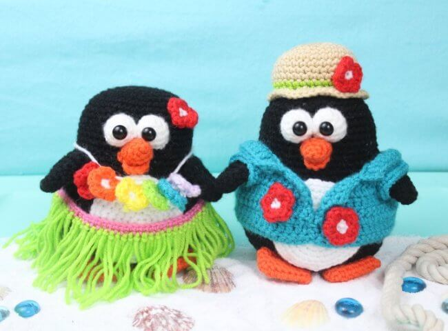 Tropical Penguins Amigurumi – Free Crochet Pattern