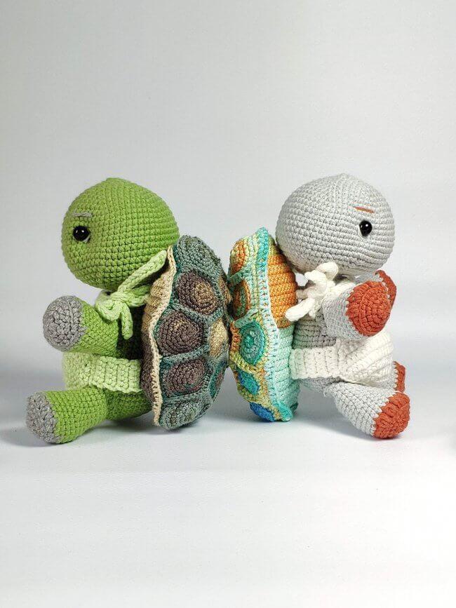 Turtle toy pattern, turtle tutorial, mosaic turtle