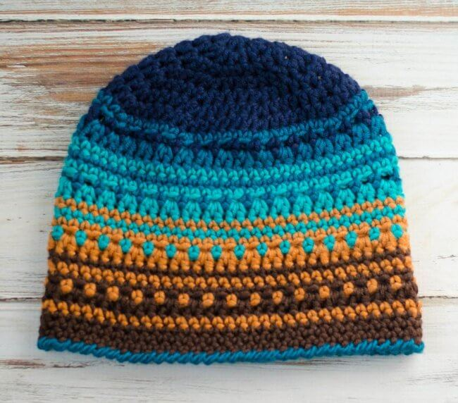 Big Bay Beanie, Crochet Hat Pattern