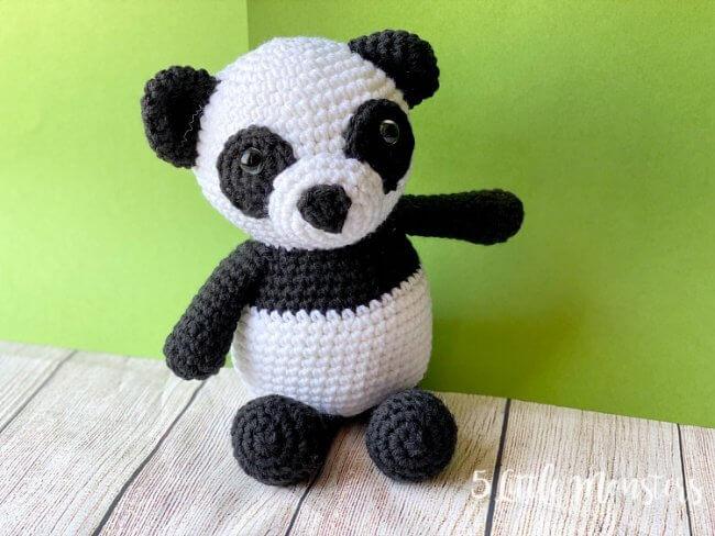 Crocheted Panda