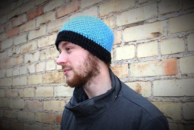 Crunch Time Men's Crochet Hat Pattern