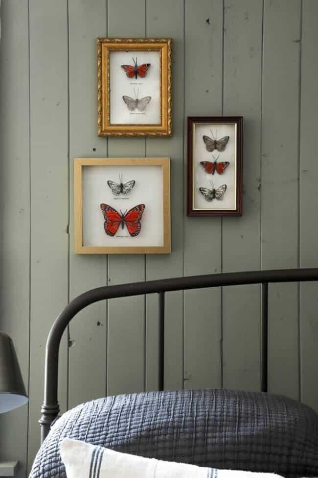 DIY Faux Butterfly Shadow Box Art