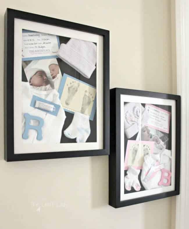 DIY Newborn Shadow Boxes – a Memorable DIY