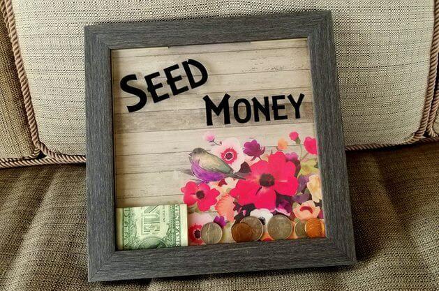 DIY Shadow Box Bank for Seed Money