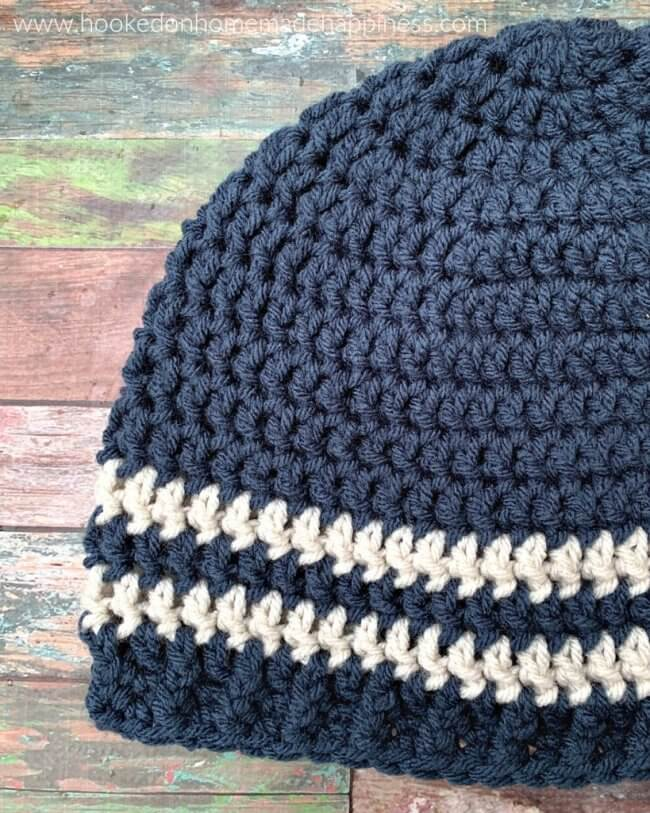 Easy Men's Beanie Crochet Pattern