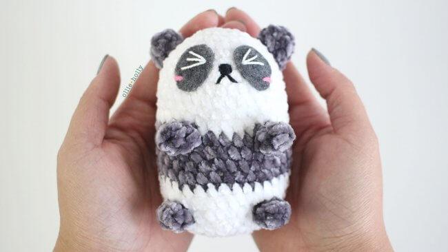 Free Onigiri the Panda Bean Amigurumi Crochet Pattern