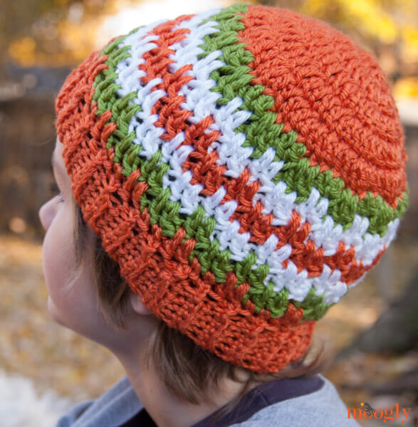 Leaping Stripes And Blocks Beanies