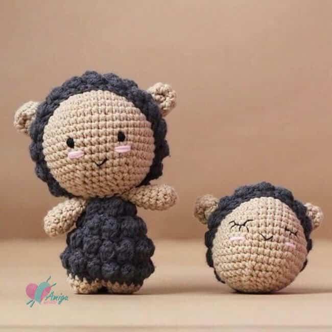 Little sheep amigurumi free crochet pattern