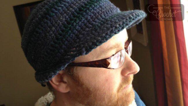 Mens Brim Hat Crochet Pattern