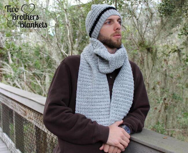Men's Hat and Scarf Set Crochet Pattern