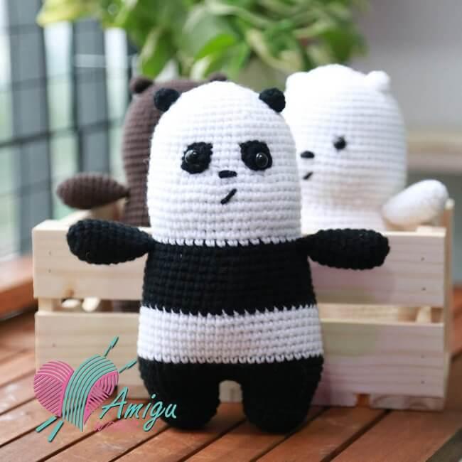 Panda Bear amigurumi free pattern