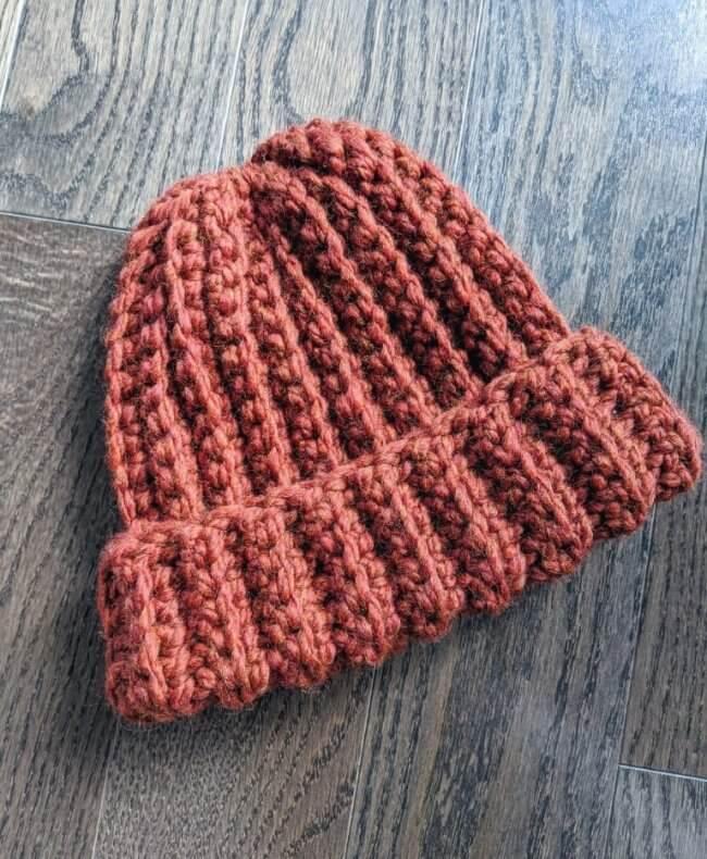 Simple Men's Crochet Hat
