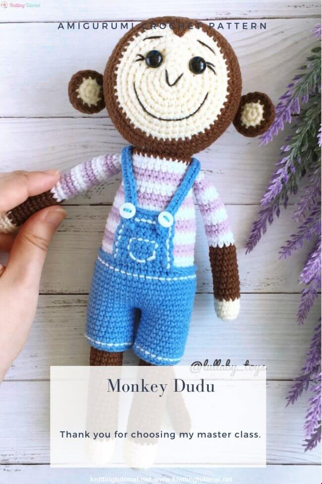 Amigurumi Monkey Dudu Crochet Pattern