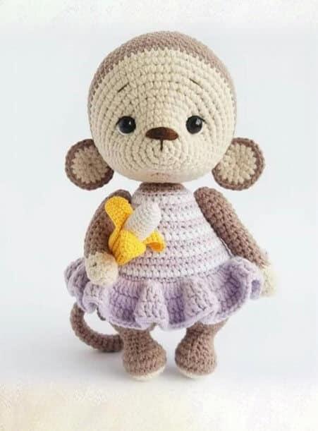 Amigurumi Monkey Free Crochet Pattern