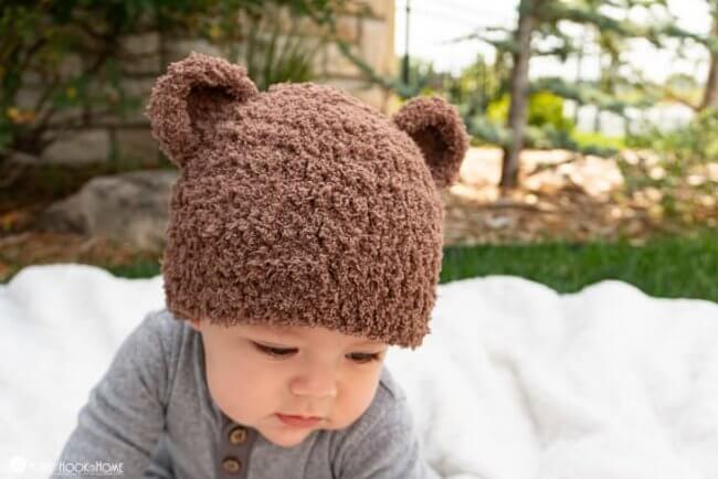 Bear-ly Scary: A Bear Beanie Free Crochet Pattern
