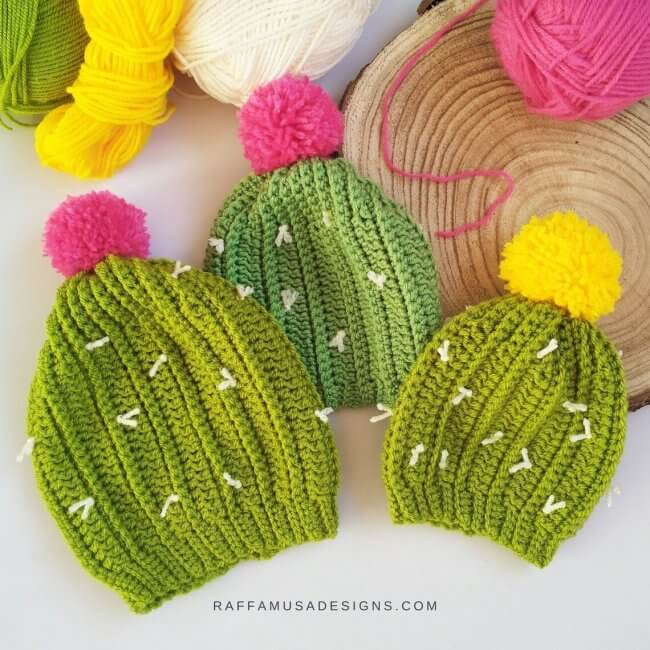 Crochet A Cactus Beanie For Your Baby!