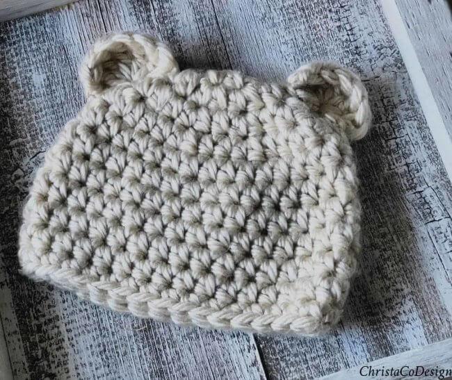 Crochet Baby Bear Hat a Free Crochet Pattern