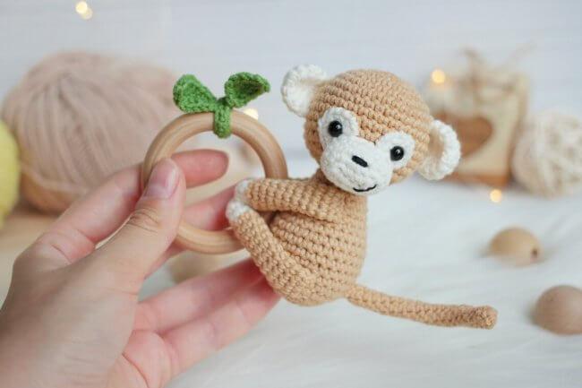 Crochet Pattern Monkey Rattle