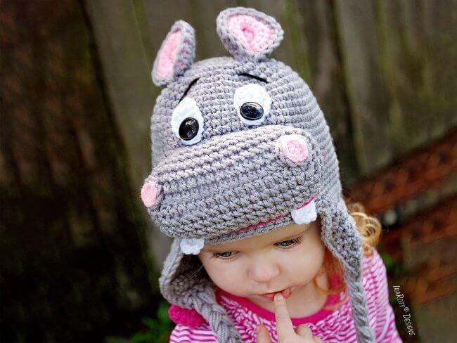 Happy Hippo the Hippopotamus Animal Hat