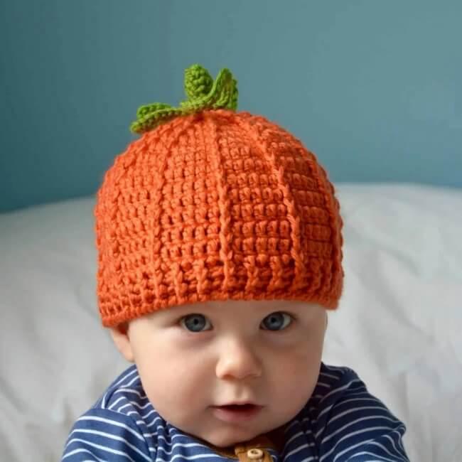 The Pumpkin Beanie – Free Crochet Pumpkin Hat Pattern