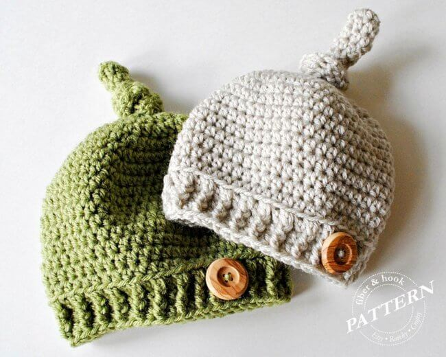 Top Knot Beanie Pattern