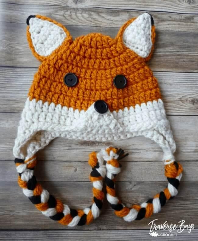 Woodland Fox Crochet hat