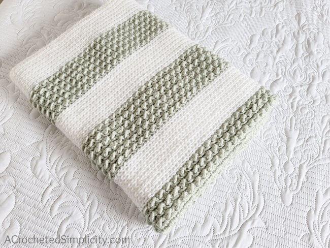 Abrielle Baby Blanket – Free Crochet Blanket Pattern