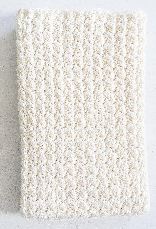 Cotton Blanket Crochet Pattern
