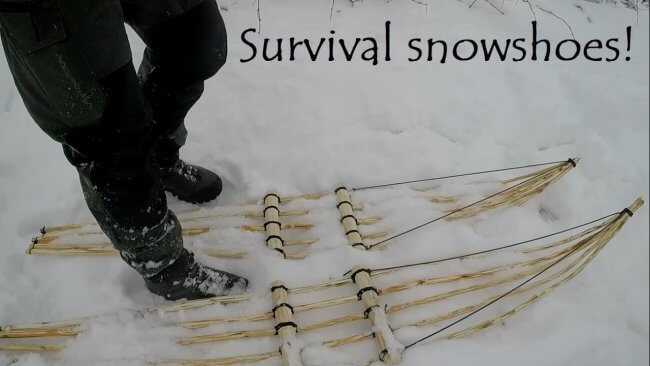 DIY snowshoes for bushcraft and survival