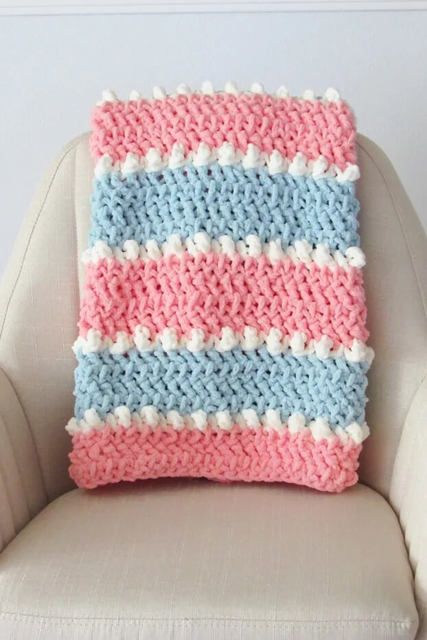 Easy Crochet Baby Blanket, 6 Hour Blanket