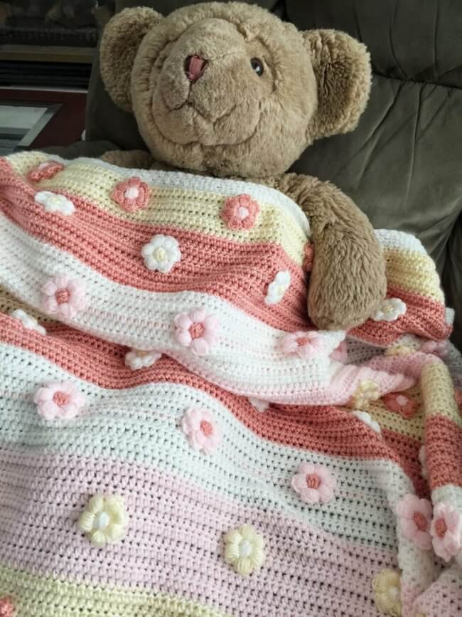 How to Crochet the Blossoms Bloom Baby Blanket