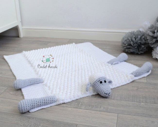Original Cuddle And Play Sheep Crochet Baby Blanket Pattern