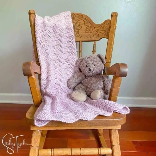 Rapid Ripple Baby Blanket Crochet Pattern