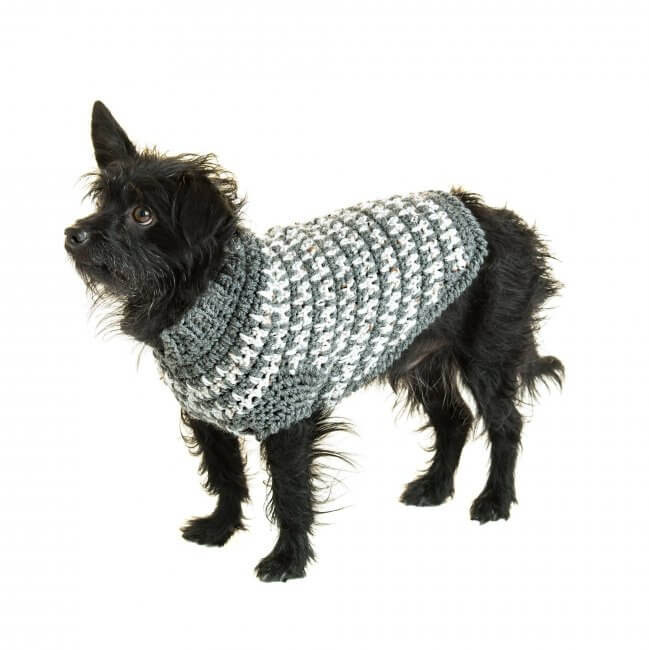 Red Heart Crochet Houndstooth Dog Sweater