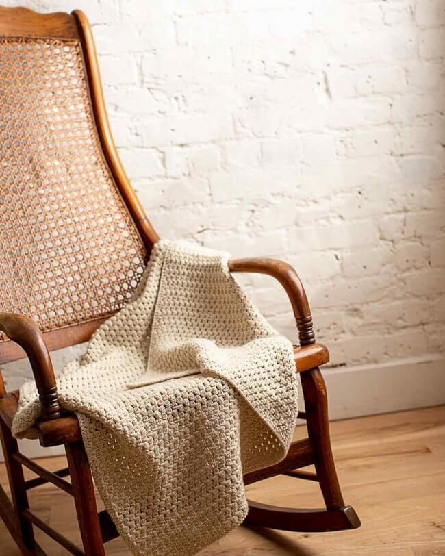 Soft Bobble Crocheted Baby Blanket