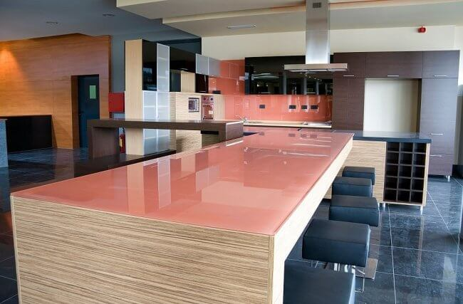 Tempered Glass Kitchen Countertop