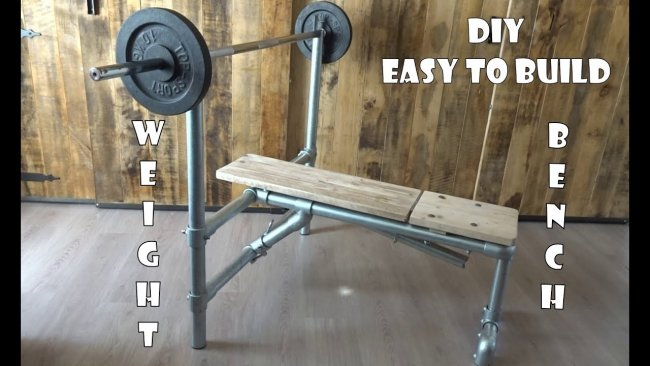 homemade WEIGHT BENCH easy to build